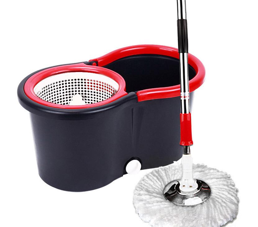 360 Degree Spin Mop & Bucket Kit Black & Red