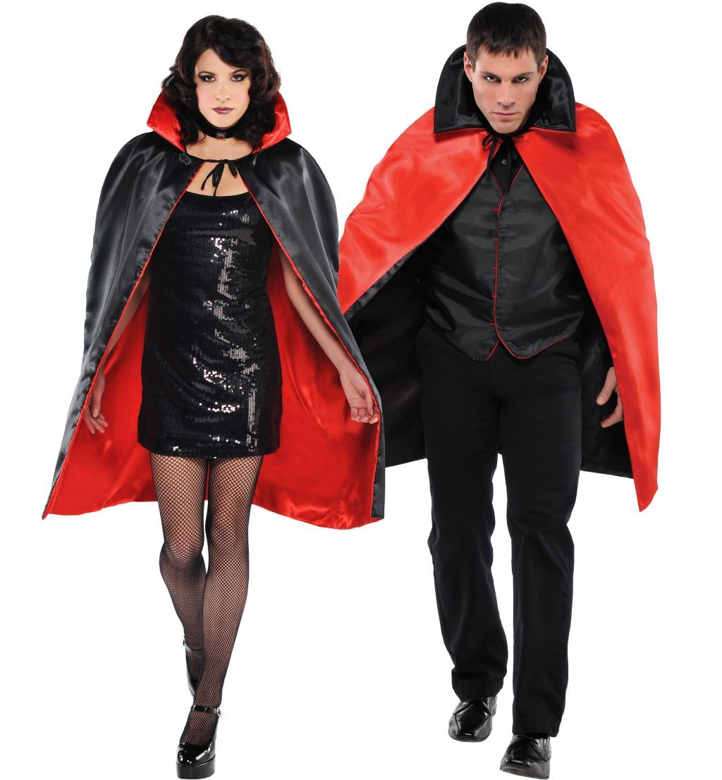Black & Red Reversible Vampire / Witch Cape