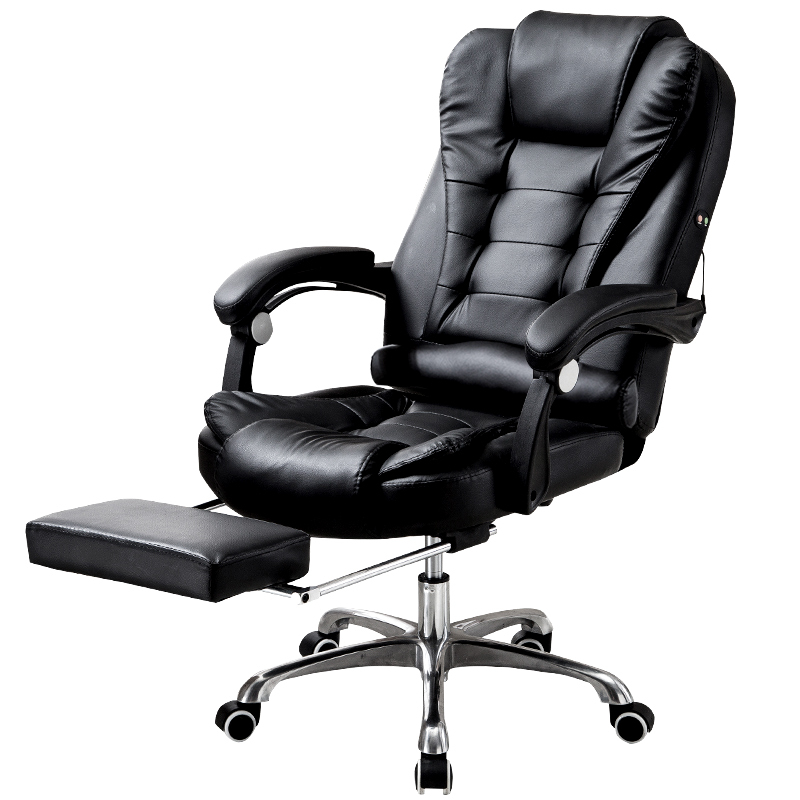 chair homcom office seat aosom swivel high recliner ergonomic modern reclining co back uk pu adjustable
