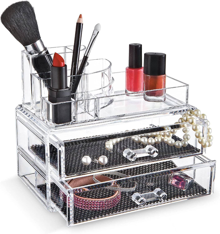 Cosmetic Organizer Drawers Clear Acrylic Jewellery Box