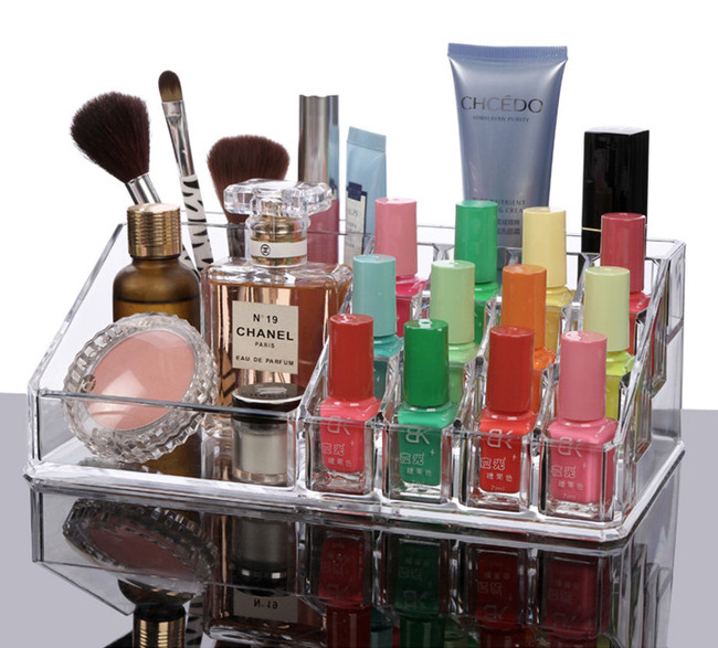 Acrylic Clear Cosmetic Organizer Makeup Container Storage (upper part)
