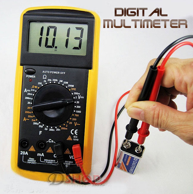 Digital LCD Multimeter Electrical Tester Voltmeter Ammeter Ohmmeter