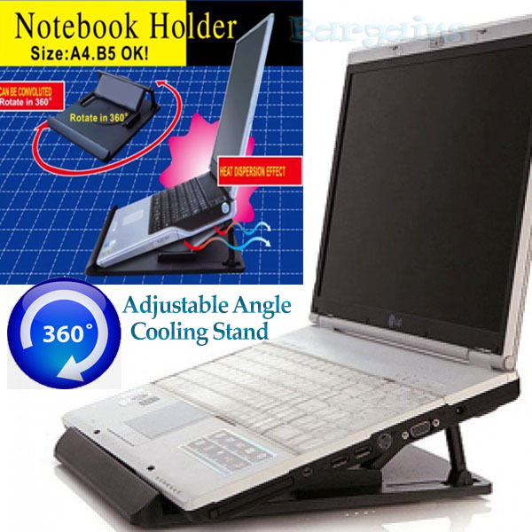 Laptop Notebook Holder Cooling Pad Adjustable Stand