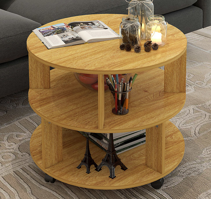 Vogue Round Coffee Table (Oak)
