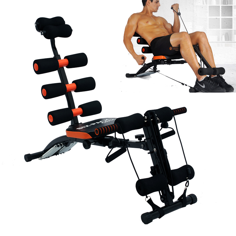 6 in 1 home gym six pack care ab rocket core exercise bench. Black Bedroom Furniture Sets. Home Design Ideas
