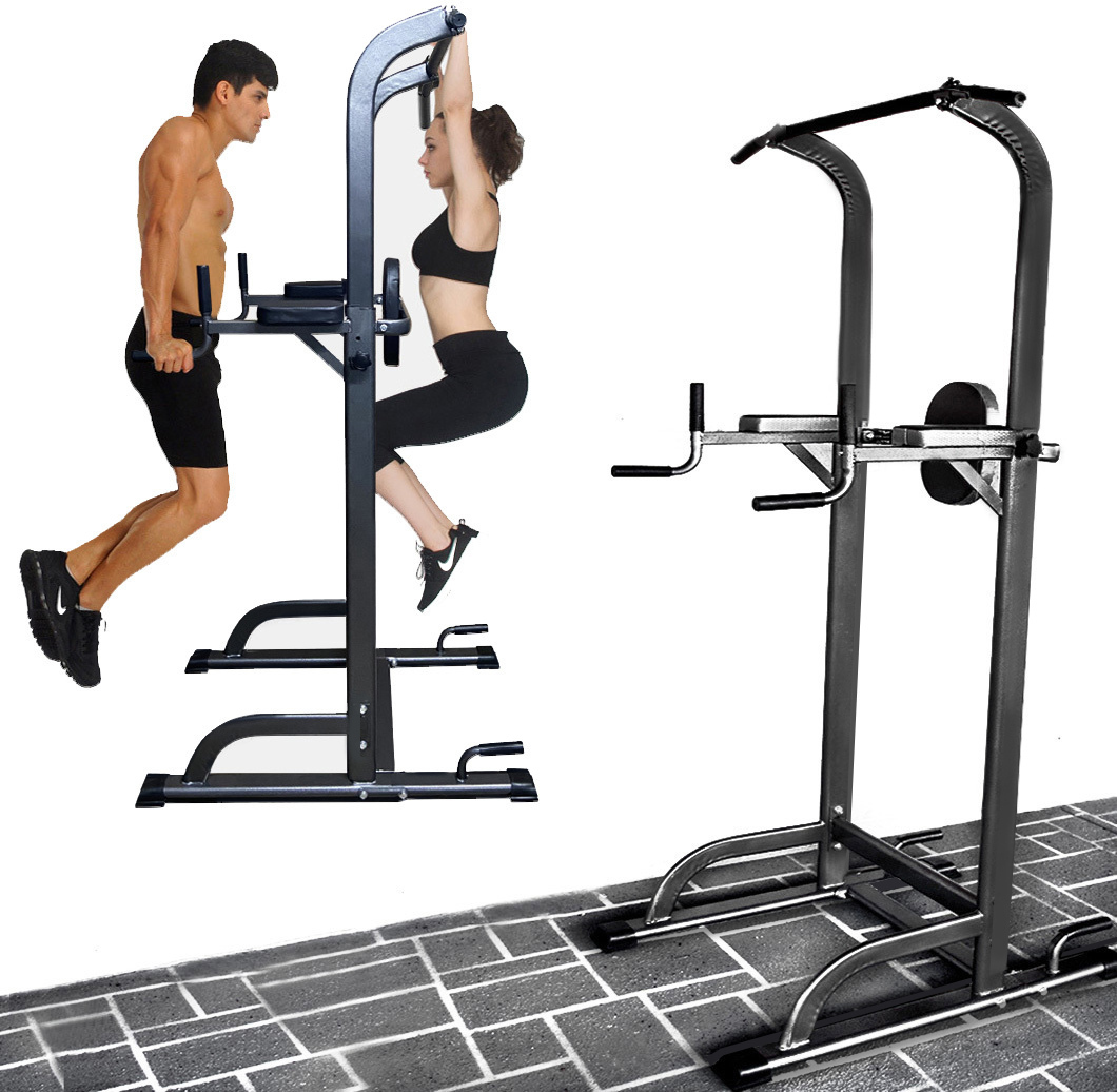 power tower pull push chin up dip bar fitness station. Black Bedroom Furniture Sets. Home Design Ideas