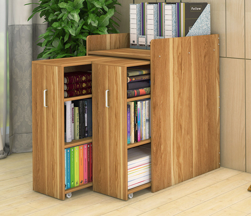 Infinity Vertical Cabinet Shelving System 2-Drawer (Oak)