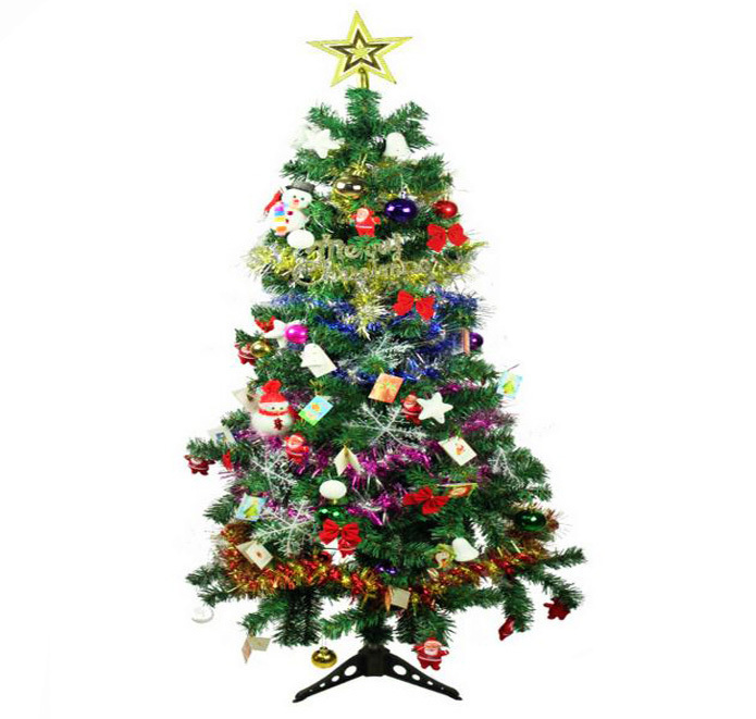 christmas tree with decorations complete kit 15m