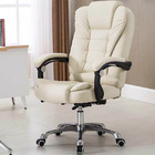 Apex Deluxe Executive Reclining Office Chair (White /Cream)