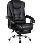 Apex Deluxe Executive Reclining Office Chair with Foot Rest (Black)