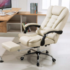 Apex Executive Reclining Office Chair with Foot Rest (White/Cream)
