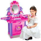 Beauty Dresser Make Up Vanity Table Play Set with Music & Light