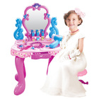 Beauty Dresser Make Up Vanity Table Play Set with Music and Light