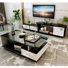 2-Piece Set Luxe High Gloss  Coffee Table & TV Cabinet
