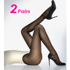 2 x Pairs Sheer Black Pantyhose Stockings