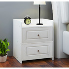 Paris Bedside Table / Chest of Drawers (White)
