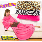 Sleeved Fleece Snuggle Blanket with Sleeves