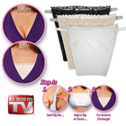 3 Pack Secret Cami Clip on Camisoles Custom Cleavage Control Lace Set Panels