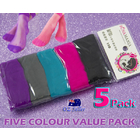 5 PK Ladies Girl Colourful Ankle Nylon Sheer Stocking Socks