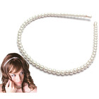 2 x Faux Pearl Beads Hairband Alice Tiara Hair Band