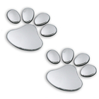 2 x Cute Pawprint Car Home Sticker Badge Auto Decal Stickers