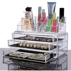 Clear Acrylic Cosmetic Makeup Display Organizer Jewellery Box Storage Case Large Drawers