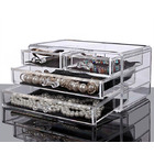 Clear Acrylic Cosmetic Makeup Display Organizer Jewelry Box Large Drawers