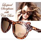 Designer Leopard Sunglasses with Bow
