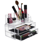 Clear Acrylic Cosmetic Makeup Display Organizer Jewellery Box Drawers Storage Case ♥