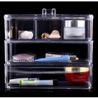 5-Compartment Acrylic Clear Cosmetic Organizer Makeup Container Storage