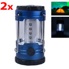 Two Pack 2 x12 LED Outdoor Camping Lanterns