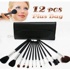 12PC Professional Makeup Brush Set with Case