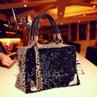 Luxury Leopard Sequined Designer Handbag