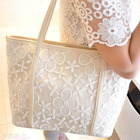 Lace Tote Handbag(Cream & White)