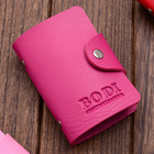 Leather Look  Credit Card Holder (Hot Pink)