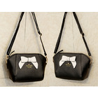 Sweet Bow Shoulder Bag (Black & White)