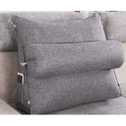 Paradise Adjustable Chair Seat Head Pillow & Back Lumbar Support Cushion (Grey)
