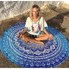 Round Beach Towel (Blue)