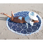 Round Beach Towel (Black & White Pattern)