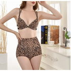 Leopard Print High Waist Body Shaper Shapewear Underwear Seamless Panties