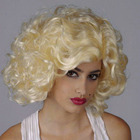 Golden Blonde Short Curly Marilyn Wig