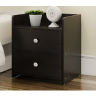 2 x Varossa Classic Bedside Table / Chest of Drawers (Black Wood)