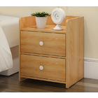 2 x Varossa Classic Bedside Table / Chest of Drawers (Natural Oak)