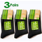 3 x Bamboo Fiber Socks Natural Antibacterial Socks (3 Pack of Black)