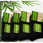 4 x Bamboo Fiber Socks Natural Antibacterial Sock (BLACK)