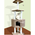 Large Cat Scratching Post Pole Tower  (Caramel / Coffee)