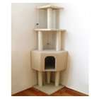 Large Cat Scratching Post Pole Tower (Cream / Beige)