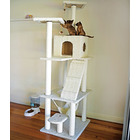 185cm Tall Cat Scratching Post Pole Tower with Hammock (Cream / Beige)