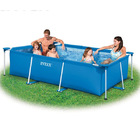 Intex Inflatable Rectangle Metal Frame Family Swimming Pool