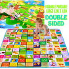 Double Sided Alphabet & Animal 1.2m x 1.8m Baby Mat Activity Rug